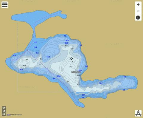 Bridge Lake Fishing Map - i-Boating App