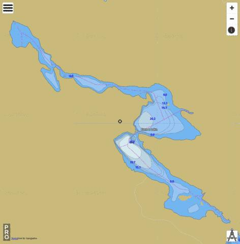 Canoe Lake Fishing Map - i-Boating App