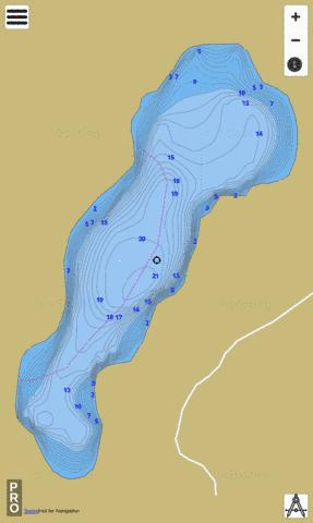 Pinepark Lake Fishing Map - i-Boating App