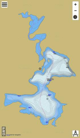 Big Lake Fishing Map - i-Boating App