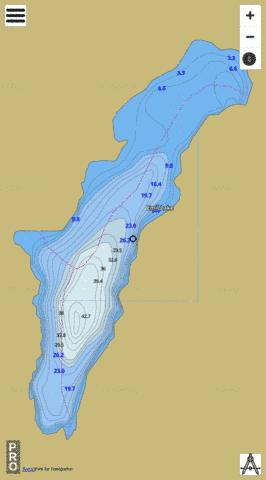 Emil Lake Fishing Map - i-Boating App
