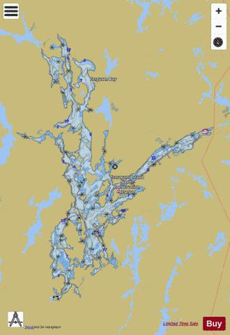 Lake Temagami Fishing Map - i-Boating App
