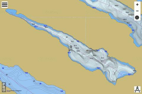 Gibberry Lake Fishing Map - i-Boating App