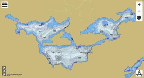 Summers Lake Fishing Map - i-Boating App