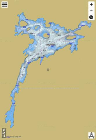 Wavy Lake Fishing Map - i-Boating App