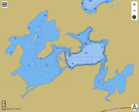 Lake Laurentian Fishing Map - i-Boating App
