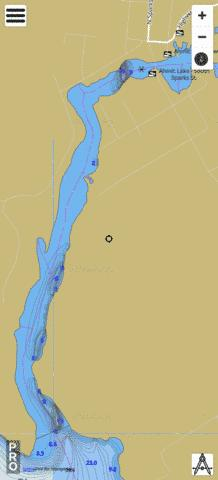 Ahmic Lake Fishing Map - i-Boating App
