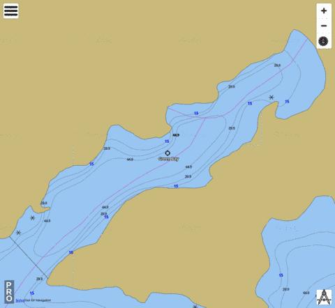 Green Bay Fishing Map - i-Boating App