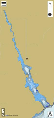 Lower Hay Lake Fishing Map - i-Boating App