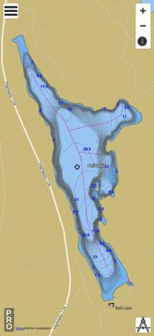 Bell Lake Mcdougall Fishing Map - i-Boating App