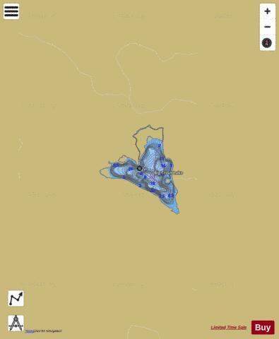 Big Trout Lake Fishing Map Ca On Big Trout Lake On Nautical