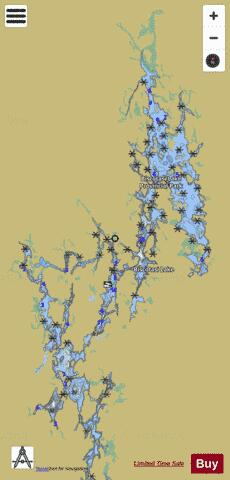 Biscotasi Lake Fishing Map - i-Boating App