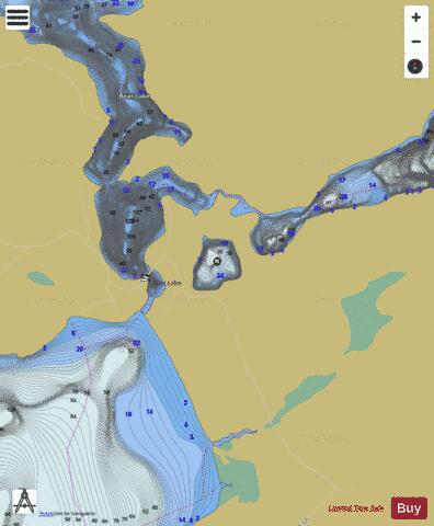 Bluepaint Lake Fishing Map - i-Boating App