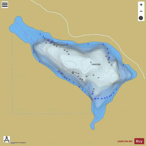 Boat Lake Fishing Map - i-Boating App