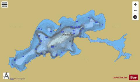 Boundary Lake Fishing Map - i-Boating App