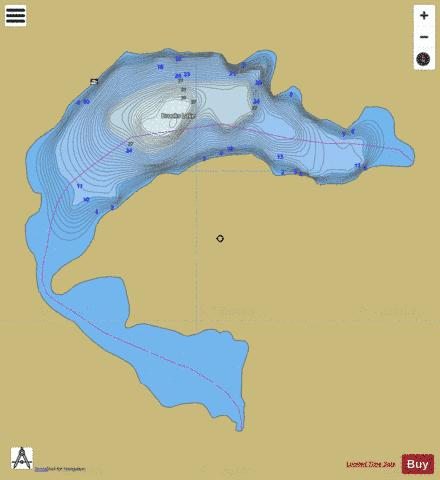 Brooks Lake Fishing Map - i-Boating App