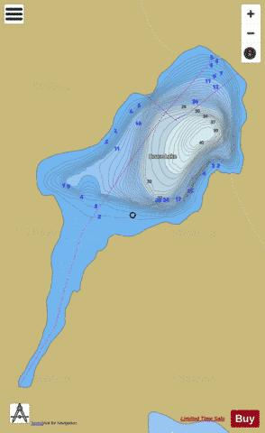 Bruce Lake Fishing Map - i-Boating App