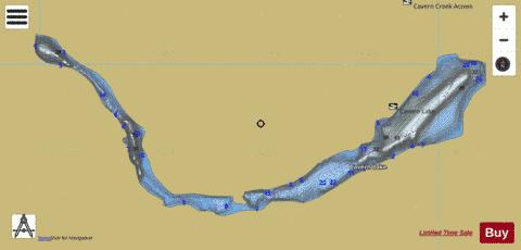 Cavern Lake Fishing Map - i-Boating App