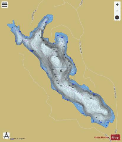 Clear Lake / Buller Lake Fishing Map - i-Boating App