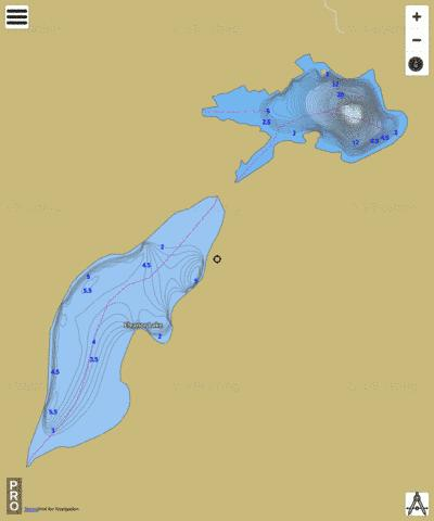 Eleanor Lake Fishing Map - i-Boating App