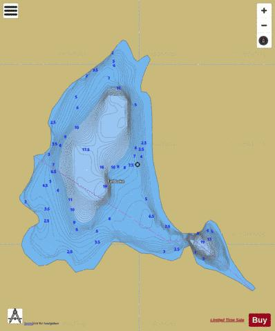 Fall Lake Fishing Map - i-Boating App