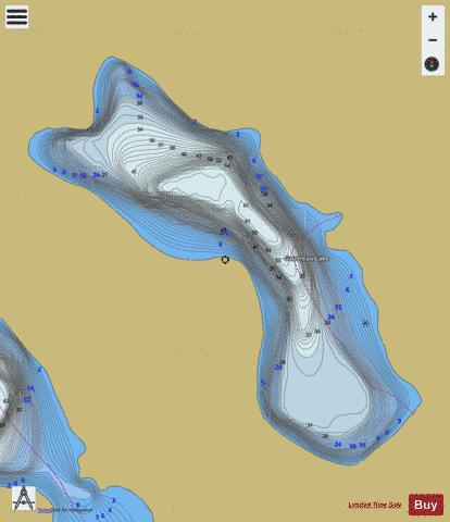 Gauvreau Lake Fishing Map - i-Boating App