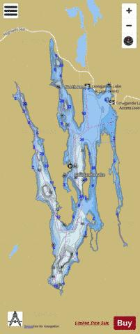Gowganda Lake Fishing Map - i-Boating App