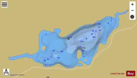 Gravel Lake Fishing Map - i-Boating App