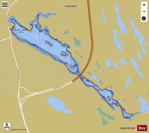 Gull Lake Fishing Map - i-Boating App