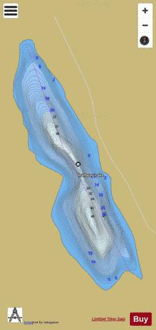 Halfway Lake Fishing Map - i-Boating App