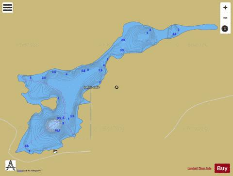 Indian Lake Fishing Map - i-Boating App