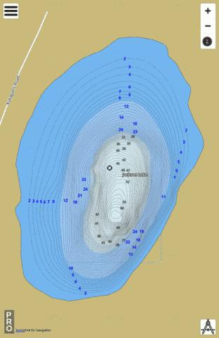 Jackson Lake Fishing Map - i-Boating App