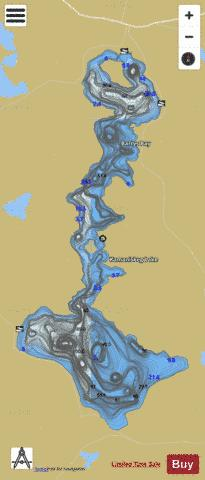 Kamaniskeg Lake Fishing Map - i-Boating App