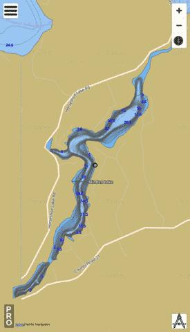 Lake Minden Fishing Map - i-Boating App