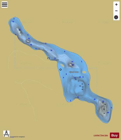Lizard Lake Fishing Map - i-Boating App