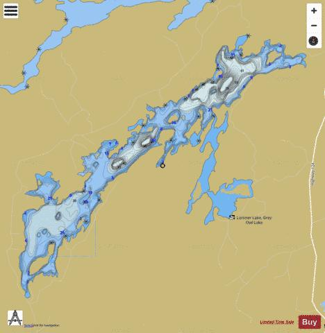Lorimer Lake Fishing Map - i-Boating App