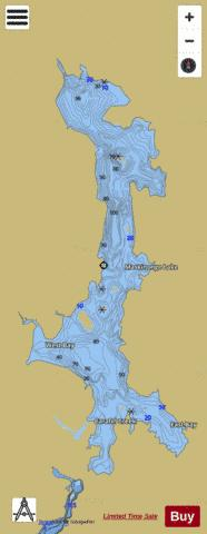 Maskinonge Lake Fishing Map - i-Boating App