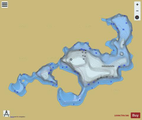 Mclander Lake Fishing Map - i-Boating App