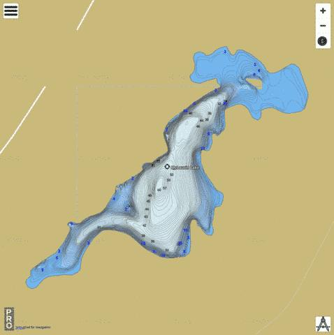 Mclaurin Lake Fishing Map - i-Boating App