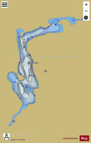 Mildred Lake Fishing Map - i-Boating App