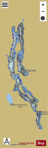 Mistango Lake Fishing Map - i-Boating App