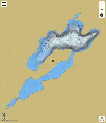 Morrow Lake Fishing Map - i-Boating App
