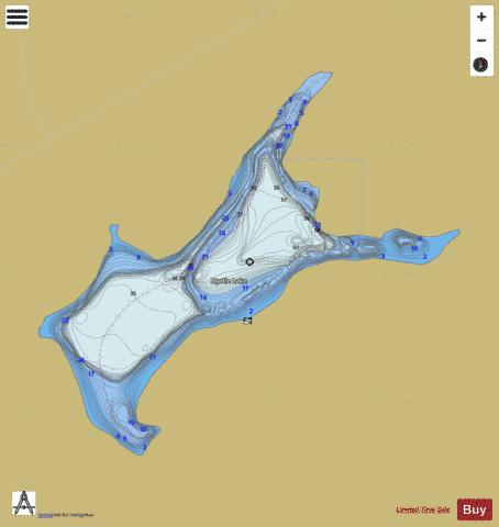 Myrtle Lake Fishing Map - i-Boating App