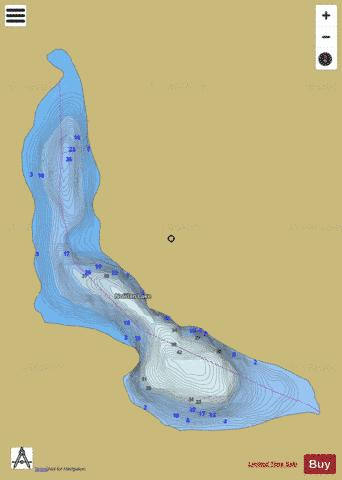 Nowlan Lake Fishing Map - i-Boating App