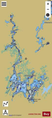 Pakashkan Lake ( Map : CA_ON_pakashkan_lake_on) | Nautical ... on