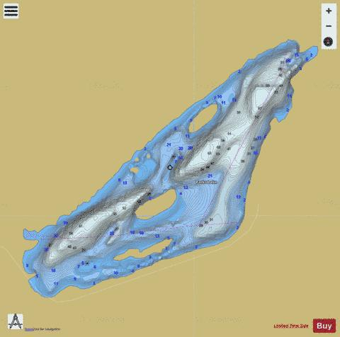 Parks Lake Fishing Map - i-Boating App
