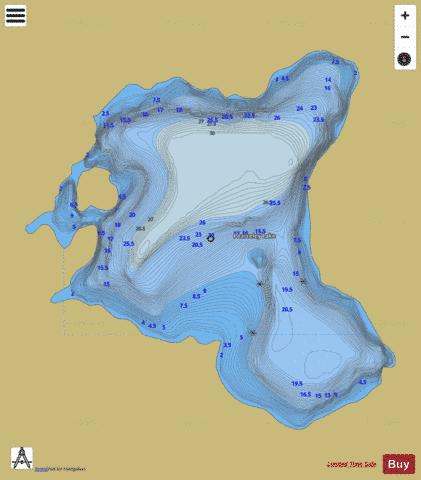Pearceley Lake Fishing Map - i-Boating App