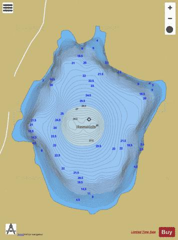 Pleasant Lake Fishing Map - i-Boating App