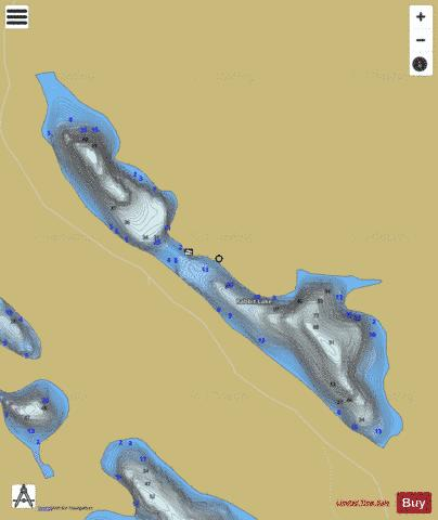 Rabbit Lake Fishing Map - i-Boating App