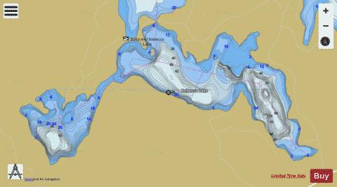 Rebecca Lake Fishing Map - i-Boating App